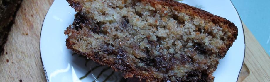 Squidgy Wholewheat Chocolate Chip BananaCake