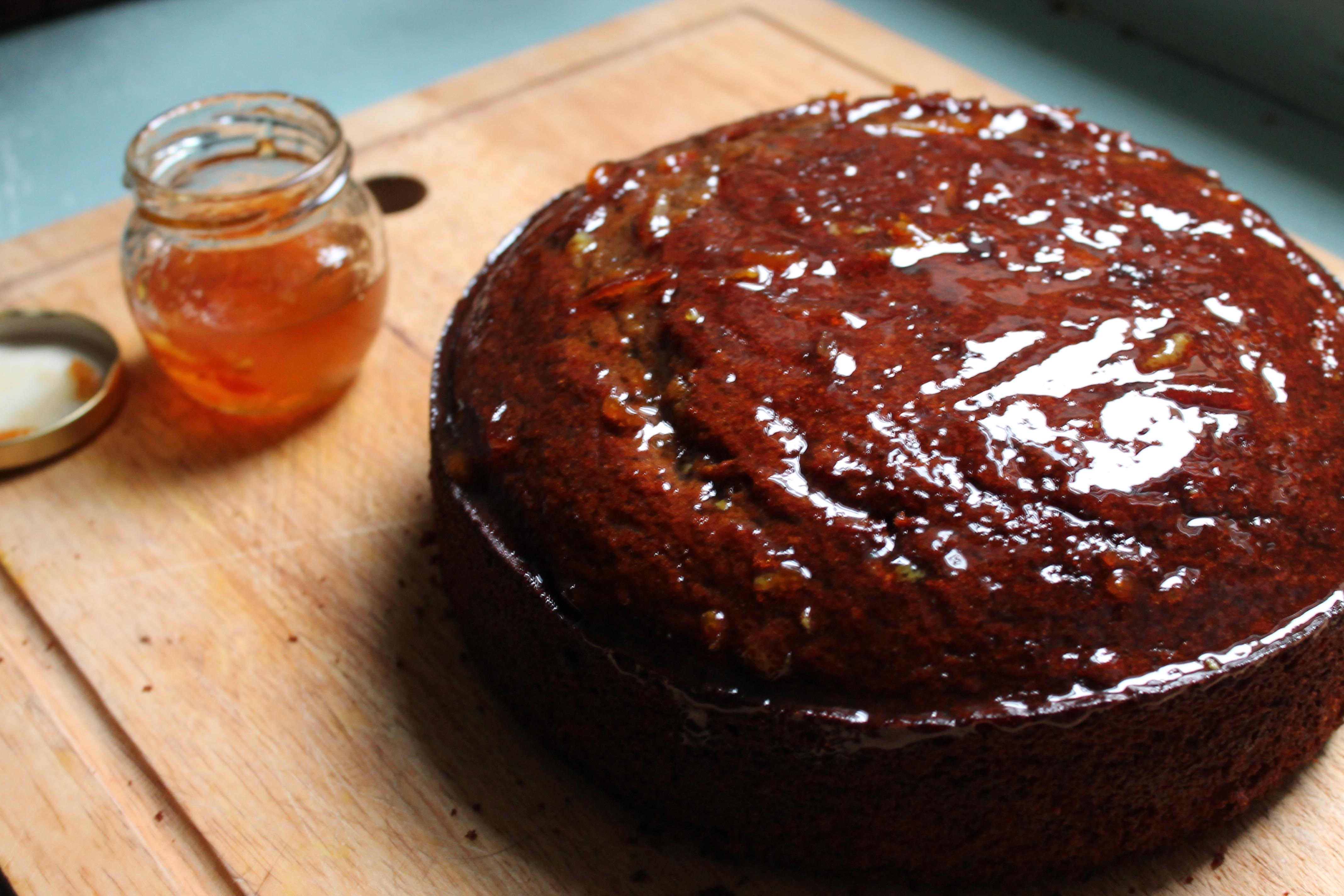 Date And Orange Cake With A Marmalade Glaze Sugar Chai Honey Bunch