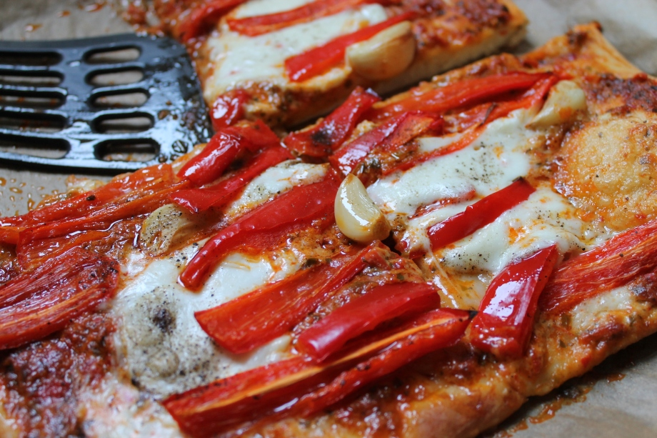 Romano Pepper and Roast Garlic Square Pizza