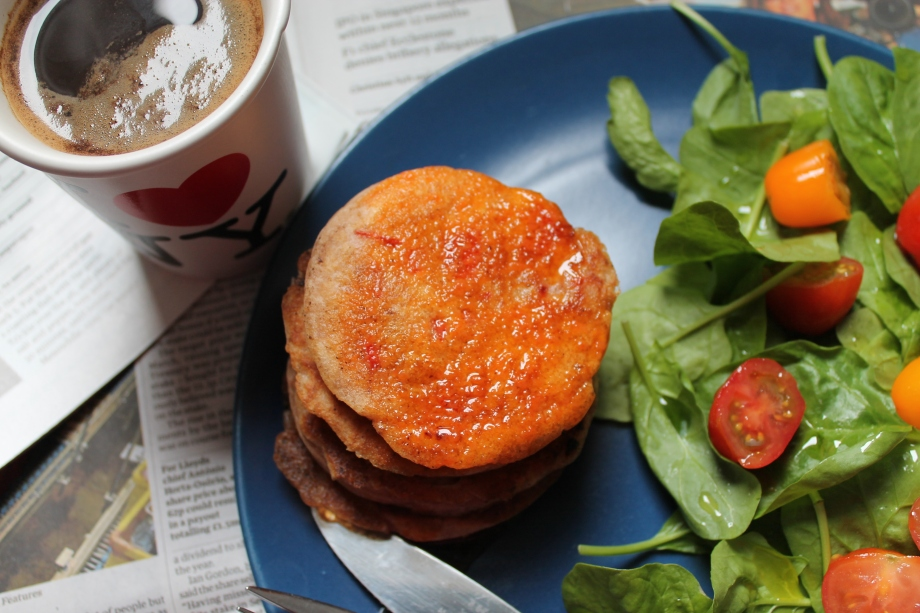 Feta and Red PepperPancakes