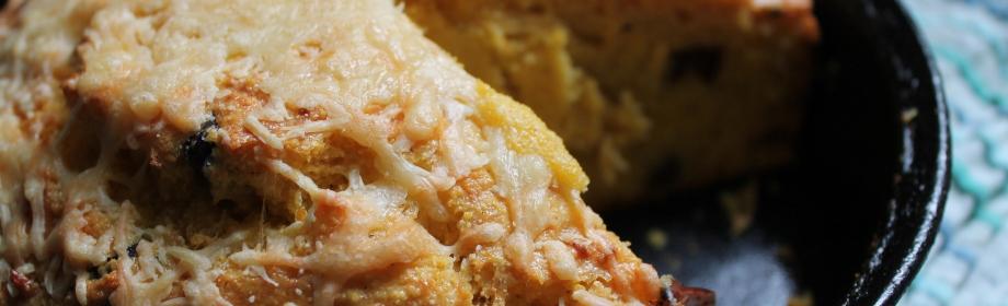Cheesy Olive Cornbread
