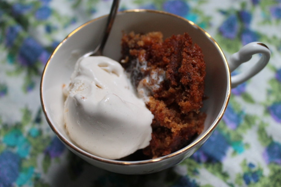 Date Syrup and Walnut Pudding