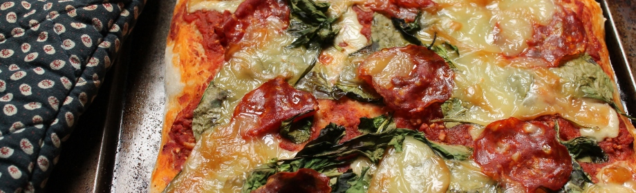 Smoked Mozzarella, Chorizo and Spinach Pizza