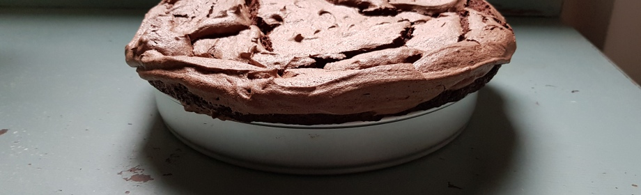 Eric Lanlard's double baked chocolate meringue brownie
